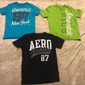 3 Men's Aeropostale shirts. Size xsmall